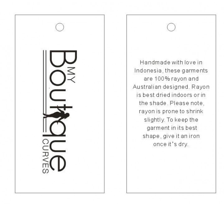 Custom Boutique Tags