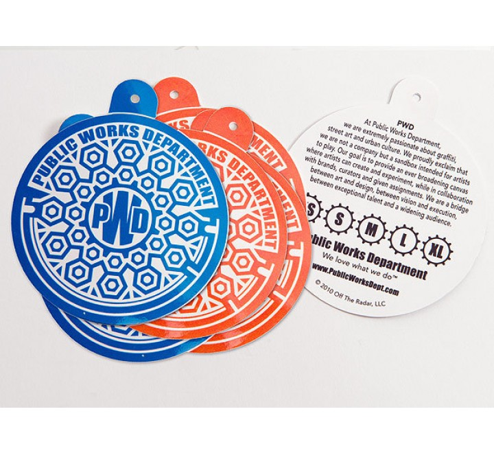 Round Clothing Hang Tags