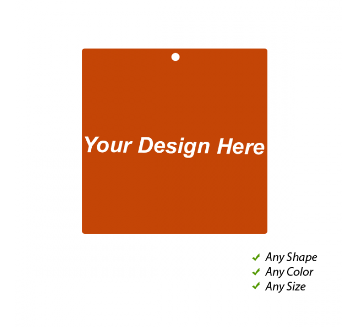 Square Standard Fold Over Tags
