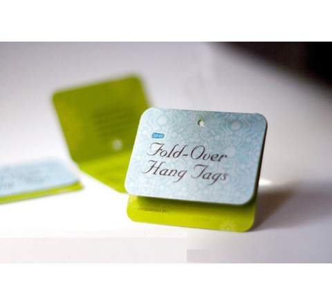 Square Classic Fold Over Tags