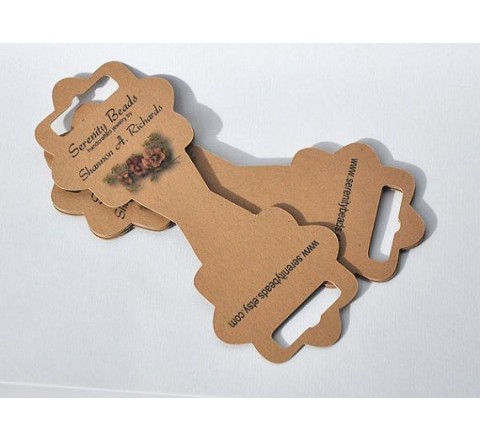 Round Fold Over Hang Tags