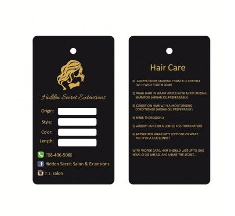 Custom Hair Serum Hang Tags