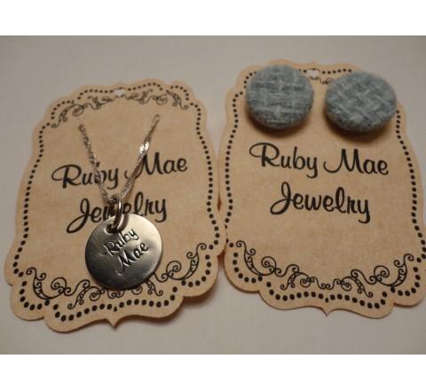 Die Cut Jewelry Hang Tags