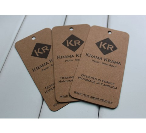 Rectangular Jeans Paper Hang Tags
