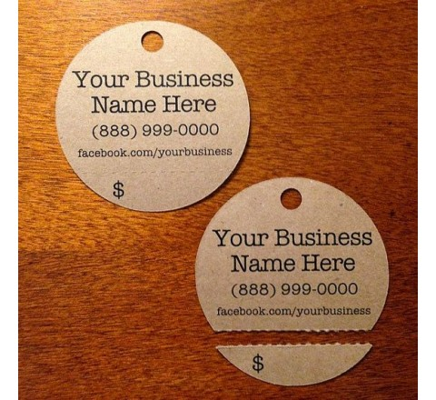 Round Tear Off Tags