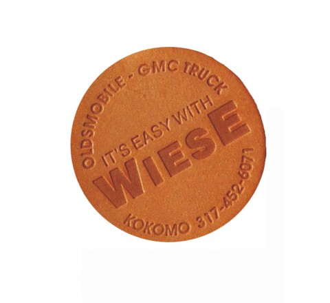 Round Leather Hang Tags