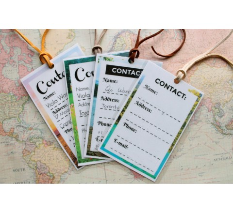 Square Plastic Hang Tags